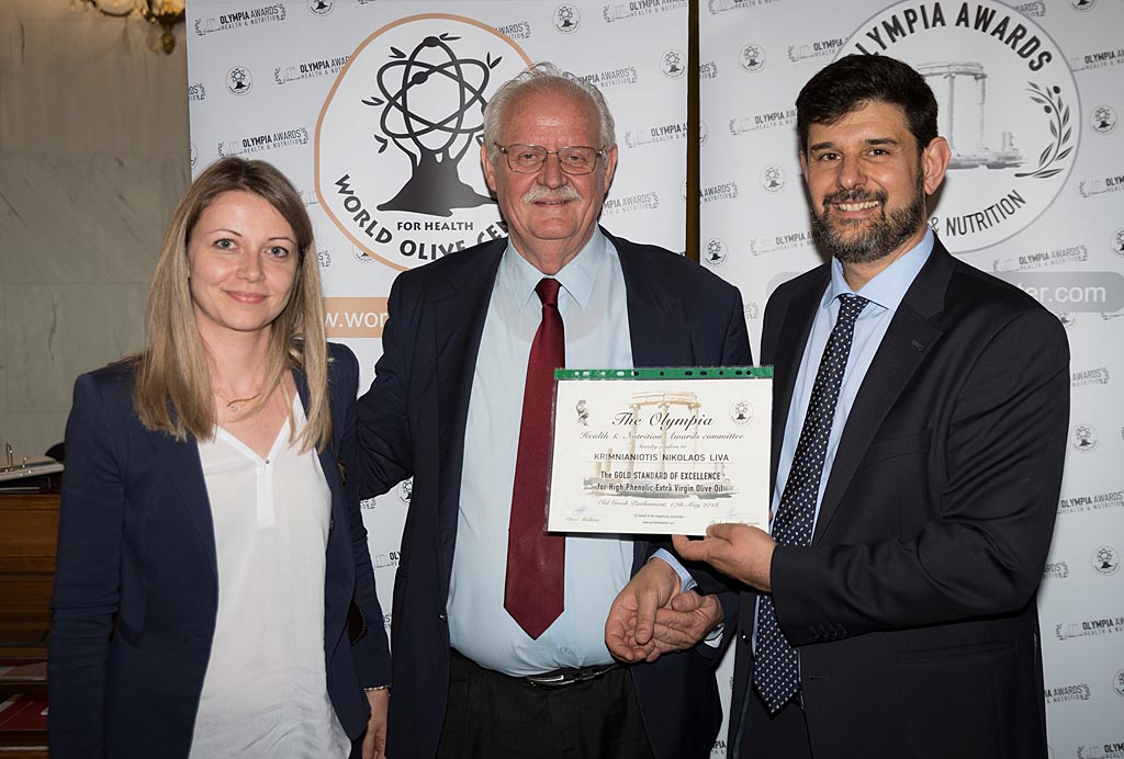 For the third consecutive year, LIVA olive oil is awarded the golden prize